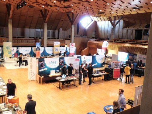 Lehrstellenmesse in Lustenau vergangenes Jahr. Solche Veranstaltungen können derzeit nicht stattfinden.mima