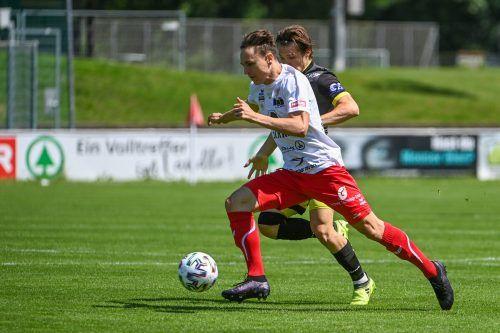 Lukas Fridrikas und Co. haben mit SV Lafnitz noch eine Rechnung offen. Das letzte Spiel auf der Birkenwiese verlor man klar mit 0:3.gepa