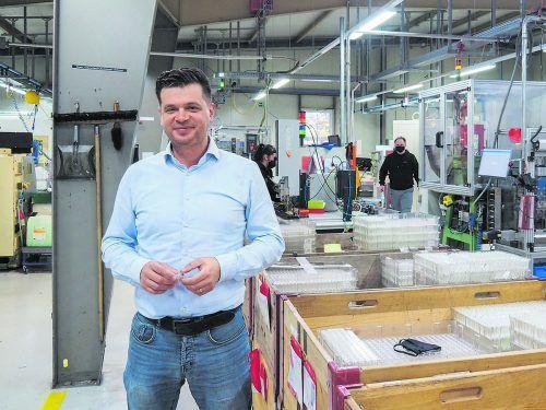Lukas Zwing leitet den Bereich Innovation beim Götzner Unternehmen Sola.Linhart/WISTO