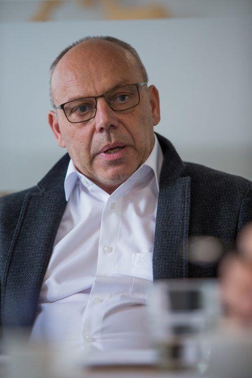 Maier zieht im VN-Interview Bilanz seines ersten Jahres. VN/Steurer