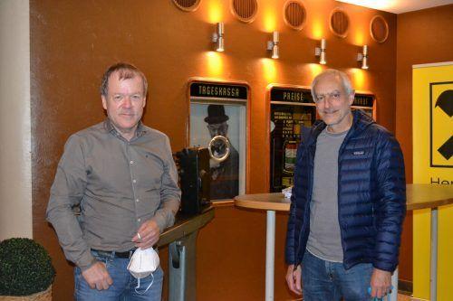 Manfred Schlatter und Alexander Haumer freuten sich über den enormen Anklang, den die Filmreihe fand.BI