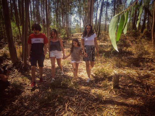 Martim, Cláudia, Mariana, Catarina klagten. GLAN