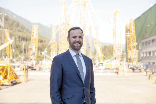 Martin Saler ist Managing Director bei der Firma Liebherr und Lehrlingssprecher der Industrie.WKV