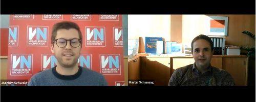 Martin Schanung sprach im digitalen Interview mit VN-Redakteur Joachim Schwald von herausfordernden Zeiten.vn/js