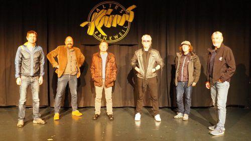 Michael Mathis (Altes Kino), Bernhard Weber, Gebhard Mathis (Präsident Vlbg. Krebshilfe), Reinhold Bilgeri, Claudio Herburger (Altes Kino) und Armin Wille (Altes Kino).EGle