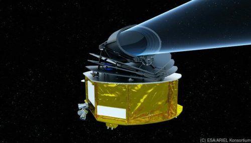 Neues Weltraumteleskop ARIEL untersucht Atmosphäre von Exoplaneten.ESA