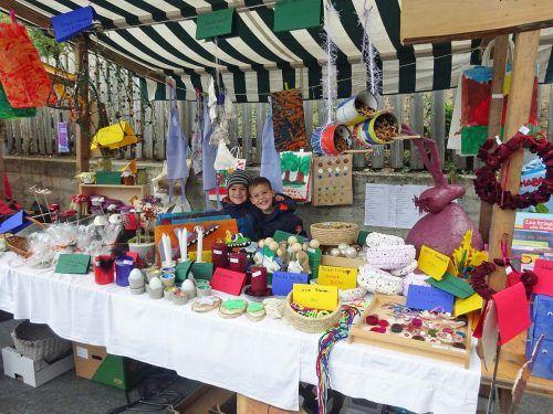 Normalerweise hätten die jungen Kehlegger ihre Produkte wie jedes Jahr auf dem Dorfmarkt verkauft.lcf (2)