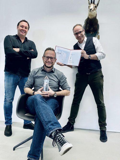 Philipp Wüstner (VO ÜS), Thomas Gschossmann und Jörg Ströhle (GF zurgams). zurgams