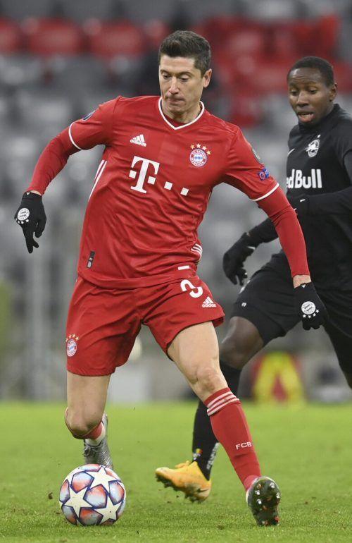 Robert Lewandowski war wieder einmal der Sieggarant für die Bayern.apa