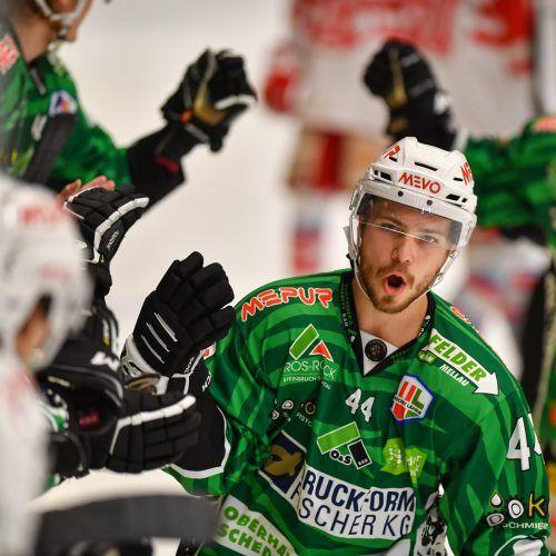 Roberts Lipsbergs war für das Torfestival des EC Bregenzerwald mitverantwortlich, erzielte in zwei Spielen fünf Tore.Lerch