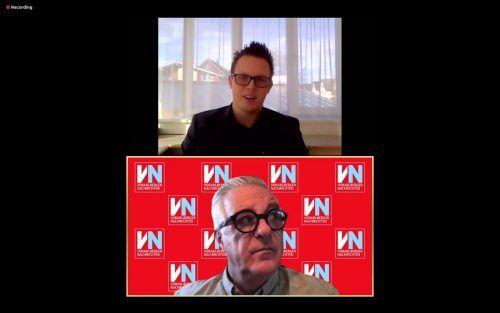 Simon Lins im Gespräch mit VN-Redakteur Tony Walser.