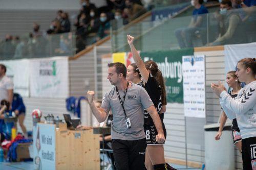 SSV-Cheftrainer Ditzer feierte im Derby einen perfekten Einstand.VN/Sams