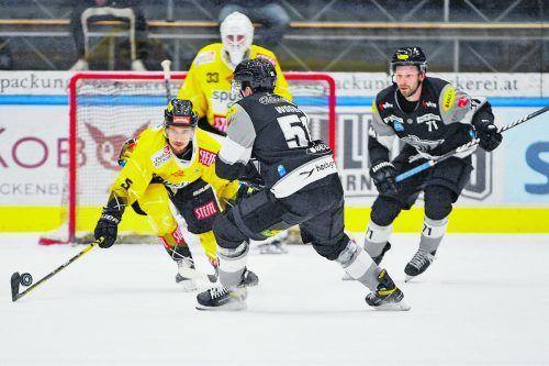 Stürmer Daniel Woger blüht bei seinem Heimatklub Dornbirn auf, hat bereits fünf Scorerpunkte auf seinem Konto stehen.gepa