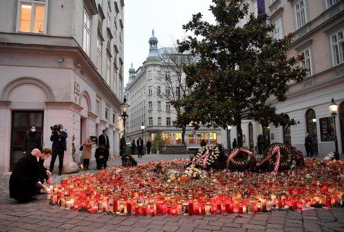 Trauer um die Opfer des Attentäters. Bei dem Anschlag wurden vier Personen getötet und mehrere zum Teil schwer verletzt.APA