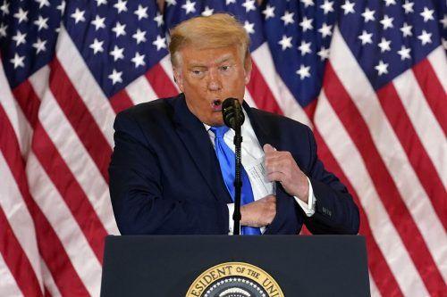 Trump ortete erneut Betrug, legte aber keine Belege vor.