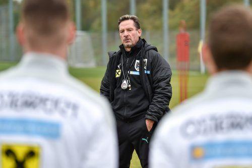 U-21-Teamchef Werner Gregoritsch hofft auf einen Sieg zum Abschluss.gepa