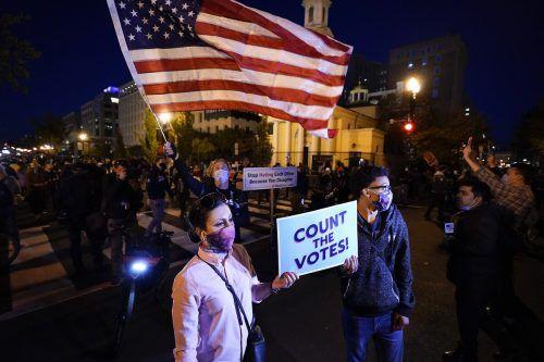 US-Wahl 2020. Unruhen überziehen das ganze Land. Präsident Donald Trump hat nie versucht, ausgleichend zu wirken.AP