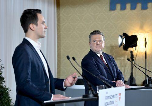 Wiederkehr und Bürgermeister Ludwig gaben Einblicke ins Programm. APA