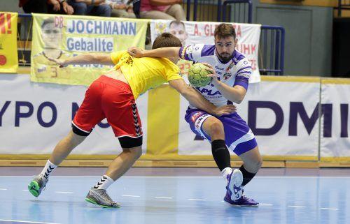 Youngster Paul Schwärzler und der Alpla HC Hard wollen mit einem Heimsieg gegen Krems den Aufwärtstrend fortsetzen. GEPA