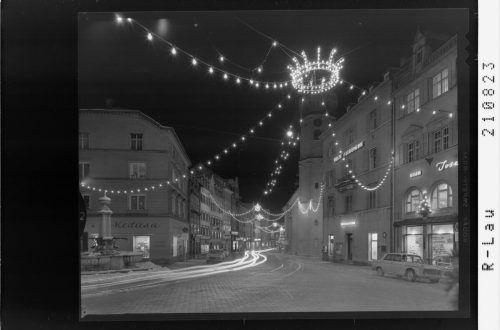 Adventstimmung in derInnenstadt vor 55 Jahren.