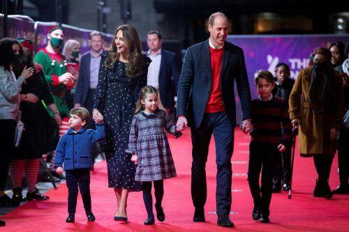 Alle Familienmitglieder zeigten sich auf dem roten Teppich. Reuters