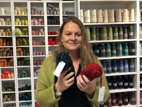Anette Beck in ihrem Laden in der Lustenauer Staldenstraße. VN/Hämmerle