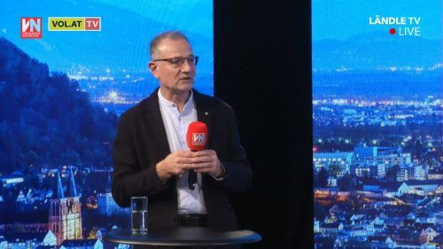 """Armin Fidler verteidigte in """"Vorarlberg Live"""" den Impfstoff. VN/Stiplovsek"""