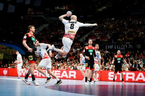 Bei der EM-Endrunde im Jänner unterlag Österreich gegen Deutschland 22:34. GEPA