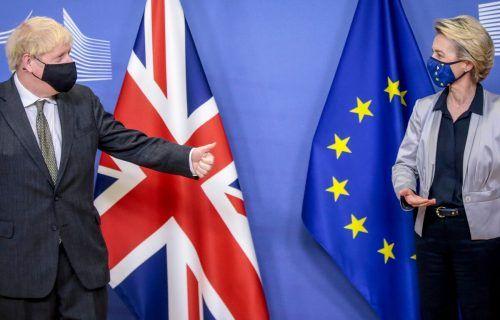 Bisher konnten Boris Johnson und Ursula von der Leyen noch keine Einigung verkünden. AFP