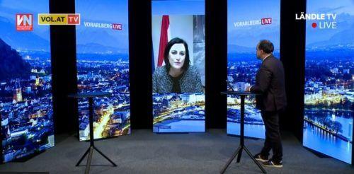 "Bundesministerin Elisabeth Köstinger zu Gast bei ""Vorarlberg live""."