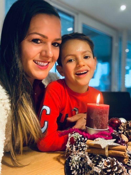 Christine Stemer freut sich, dass sie mit ihrem Sohn den Advent erleben darf.