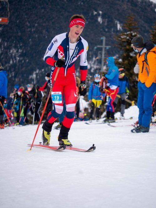 Daniel Ganahl belegte im Vertical-Rennen den starken 13. Platz.Lang