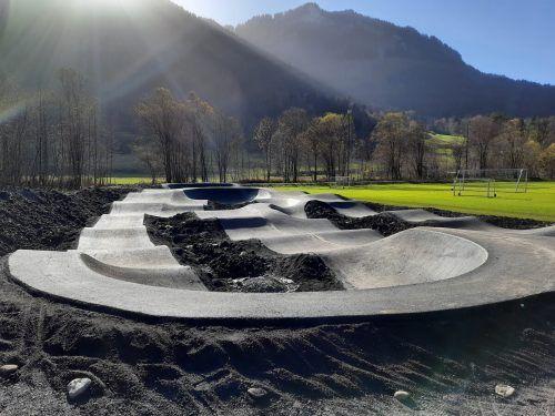 Das Jugendpark-Projekt in Mellau steht vor der Fertigstellung.