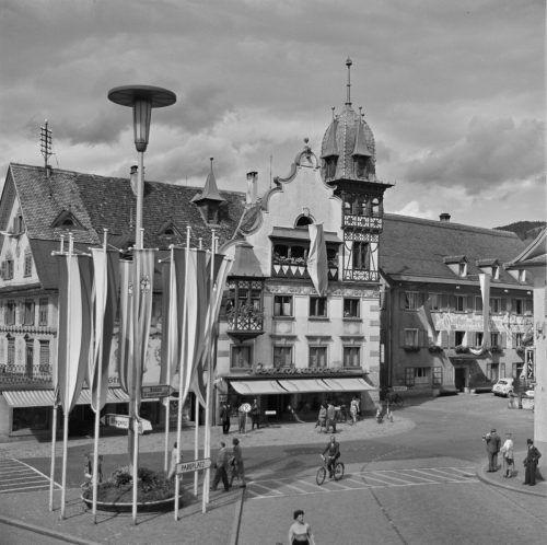 Das Johann-Luger-Haus am Dornbirner Marktplatz.