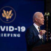 """<p class=""""factbox"""">Der gewählte US-Präsident Joe Biden schwörte die Amerikaner auf die möglicherweise schwierigste Phase in der Coronapandemie ein. AFP</p>"""