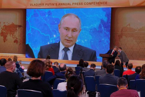 Der Kremlchef hielt seine Jahrespressekonferenz in Moskau ab. reuters