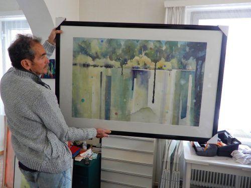 Der Künstler Rudolf Lässer schöpft auch aus ganz vielen Kompositionen vergangener Eindrücke im Kopf.cth