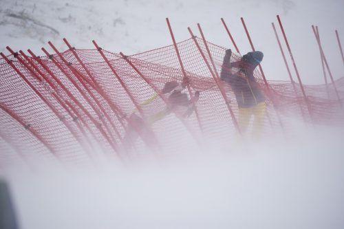 Der Wind verblies alle Anstrengungen, den zweiten Durchgang des Damen-Riesentorlaufs doch noch durchführen zu können.apa