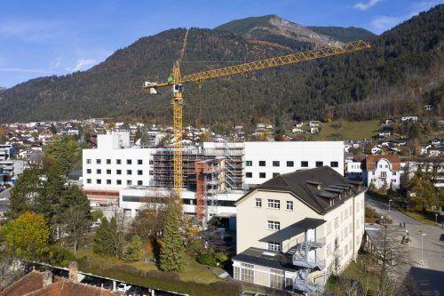 Die Sanierungsarbeiten am LKH Bludenz verlaufen trotz schwieriger Rahmenbedingungen planmäßig.LKH/Mathis