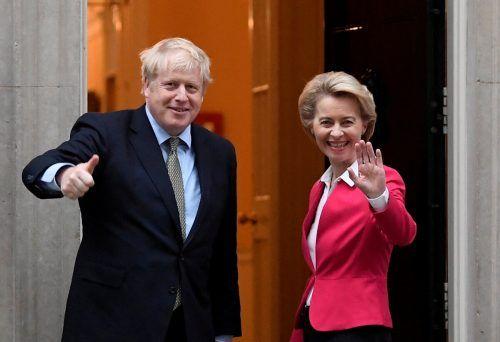 Die Stimmung zwischen Ursula von der Leyen und Boris Johnson war auch schon einmal besser. Reuters