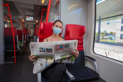 Die Pandemiebekämpfung wirkte sich auf die Fahrgastzahlen aus. VN/Steurer