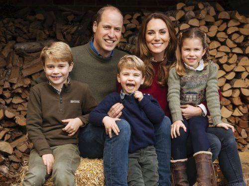 Prinz William und Herzogin Kate mit ihren Kindern. Nun soll auch wieder ein kleiner Cocker Spaniel zur Familie gehören, heißt es. ap