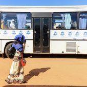 """<p class=""""factbox"""">Flüchtlinge aus der Zentralafrikanischen Republik kehren aus Gado, Kamerun, in ihr Heimatland zurück.AFP</p>"""