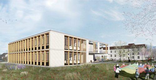 Für den Neubau der Volksschule wird die Gemeinde Meiningen ein Darlehen in der Höhe von 3,2 Millionen Euro aufnehmen. Gemeinde