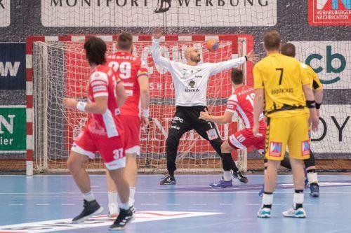 Im Hinspiel Ende September feierte der Alpla HC Hard mit dem 32:25-Auswärtserfolg den vierten Sieg in Folge und insgesamt 37 gegen Bregenz Handball. Letztere haben in der Derbybilanz mit 49 Siegen die Nase vorne.VN/Sams