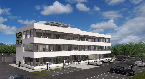 In Sulz errichtet die Firma Nägele derzeit das neue Verwaltungsgebäude.FA