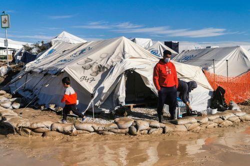 In den griechischen Lagern herrschen miserable Lebensbedingungen.AFP