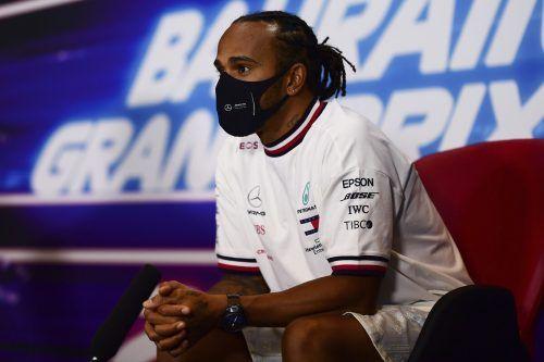 Lewis Hamilton ist nach einem positiven Coronatest beim zweiten Grand Prix in Sakhir am Wochenende nur Zuschauer.ap