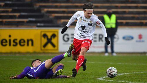 Lukas Fridrikas war wieder einmal Gold wert für den FC Dornbirn.Gepa