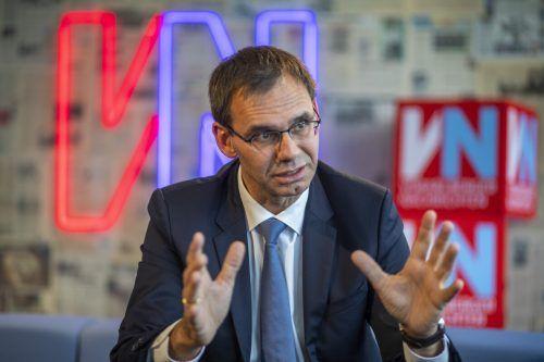 """Markus Wallner lobt die Vorarlberger als """"zähes Volk"""", das einiges aushält. Bei der Pandemiebekämpfung sieht er 2021 alle mehr denn je gefordert. VN/Paulitsch"""